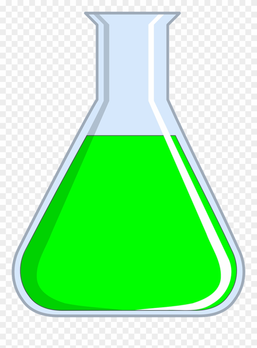 Chemical clipart flask. Erlenmeyer green chemistry png
