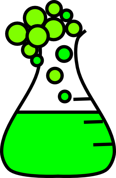Chemical clipart flask. Green bubble clip art