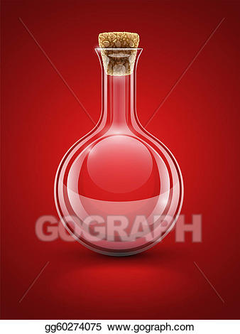 Chemical clipart glass. Eps illustration empty flask