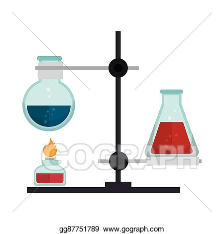 Vector design illustration. Chemical clipart glass
