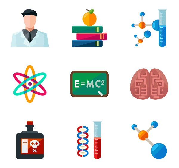 Chemical clipart icon.  chemistry packs vector