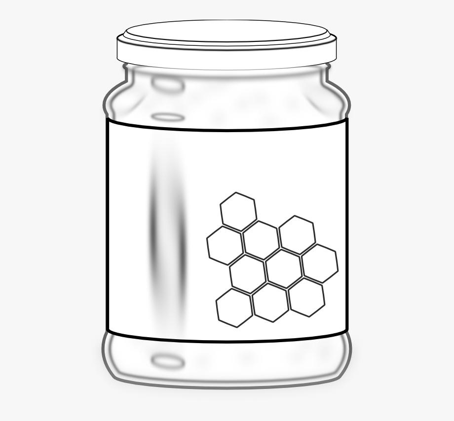 Honey black and white. Chemical clipart jar