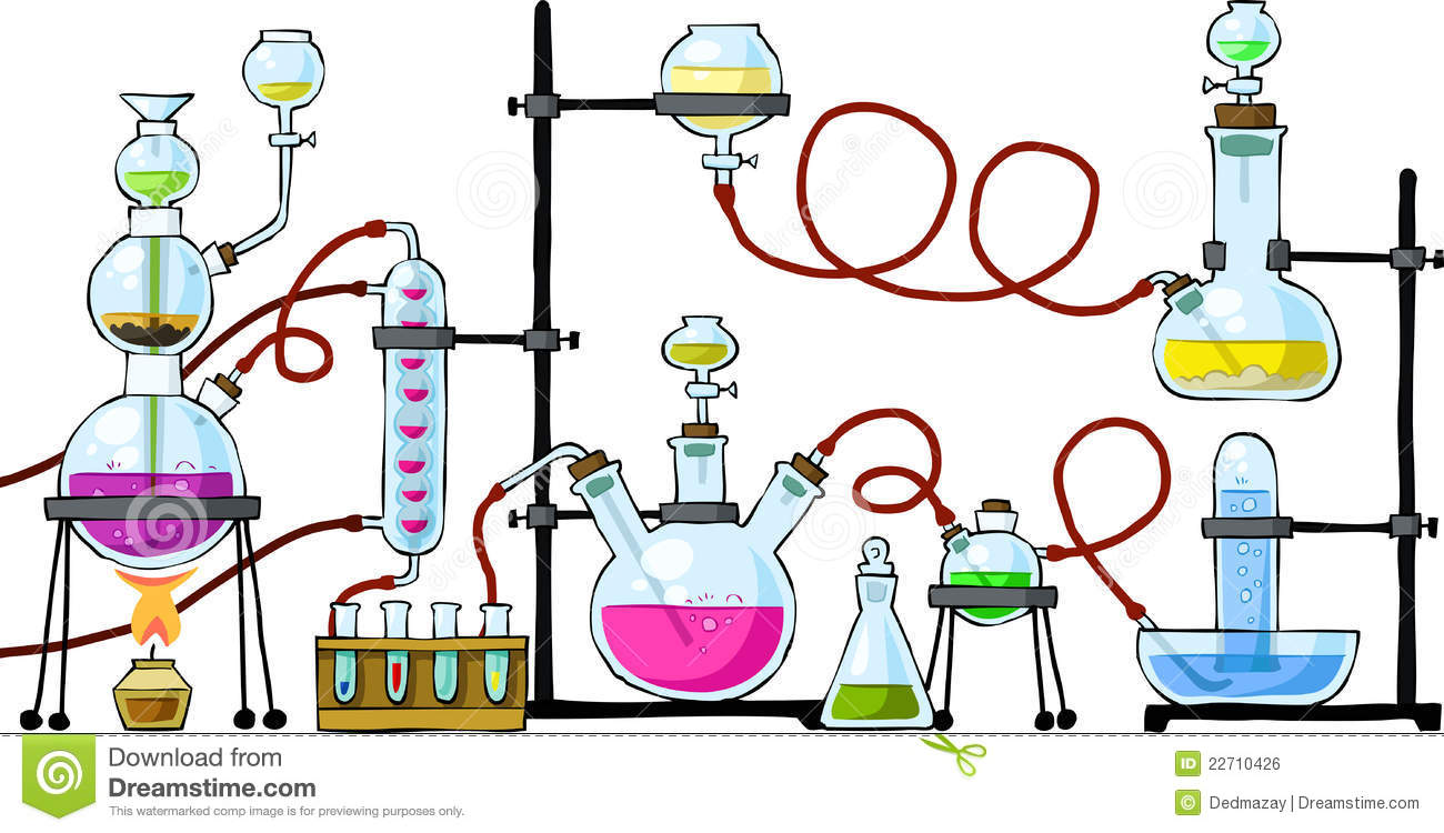 Chemistry equipment station . Chemical clipart lab chemical