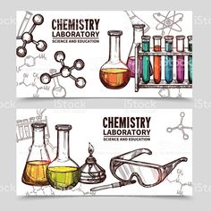 Chemical clipart lab equipment. Cartoon science laboratory in