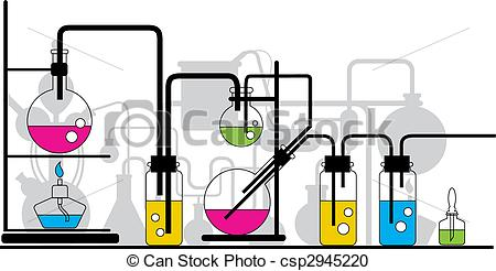 Chemistry station . Chemical clipart lab equipment