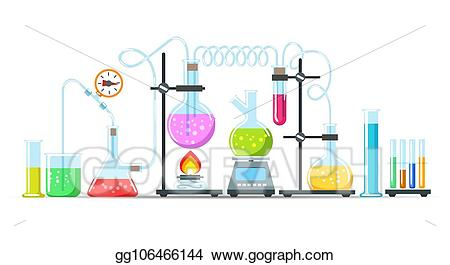 Vector art chemistry equipment. Chemical clipart lab supply