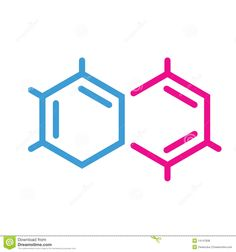 Creation for environmental chemistry. Chemical clipart logo