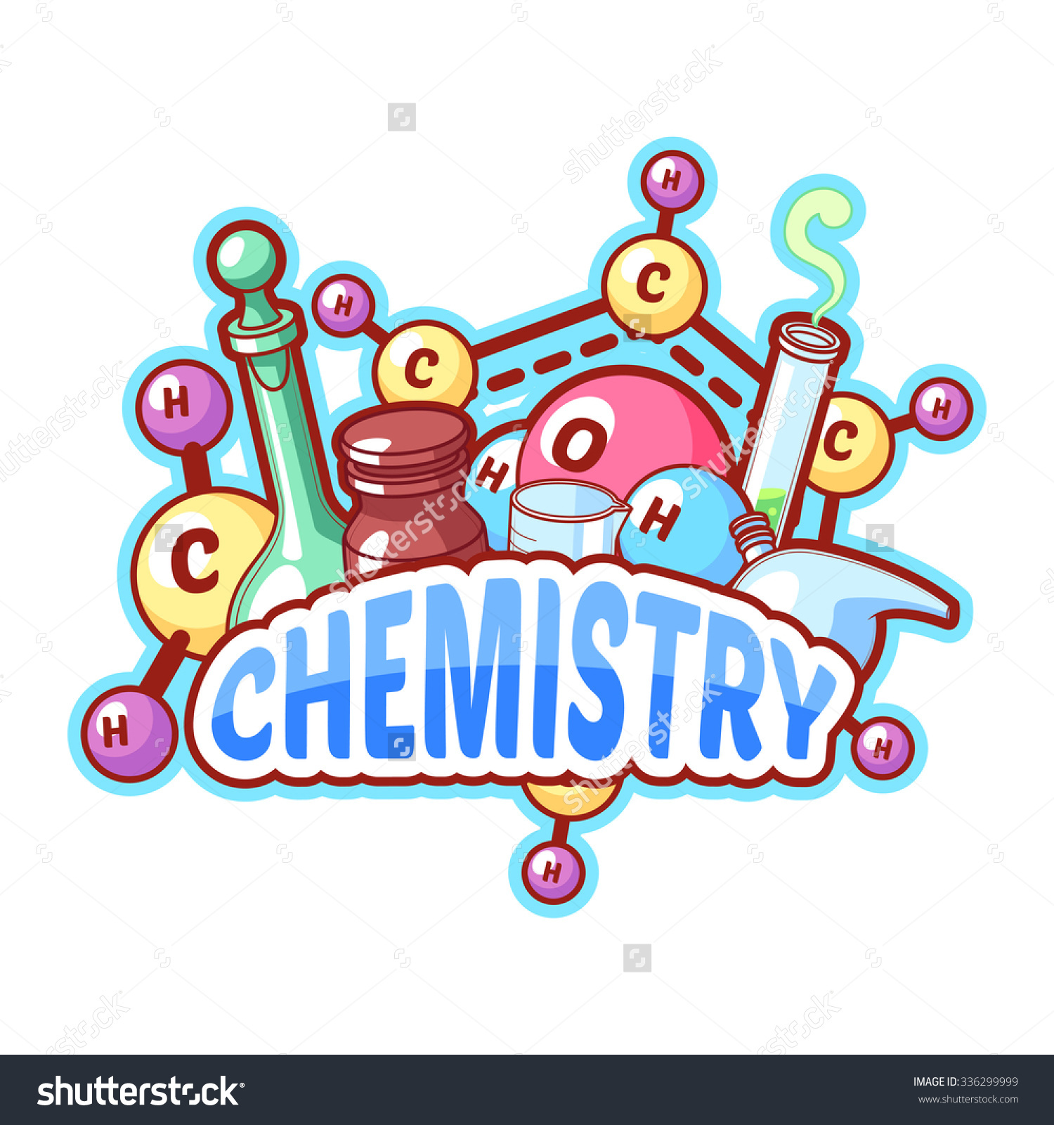 Chemistry clipart logo. Cover page designs incep