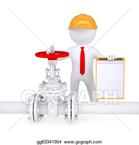 Chemical clipart pipelines. Stock illustrations d man