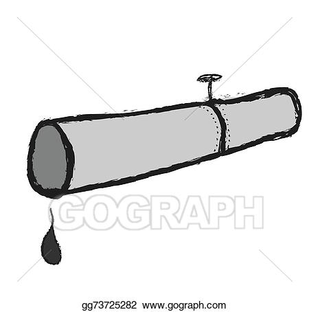 Chemical clipart pipelines. Drawing doodle concept oil