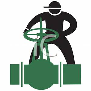 A person opening valve. Chemical clipart pipelines