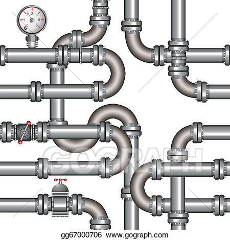 Eps vector pipeline seamless. Chemical clipart pipelines