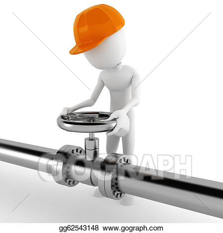 Chemical clipart pipelines. Drawing d man worker