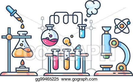 Eps vector scientific experiment. Chemical clipart science