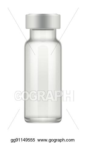 Chemical clipart vial. Vector art transparent glass
