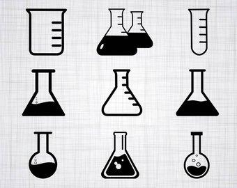 Chemical clipart vial. Chemistry etsy svg bundle