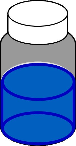Chemical clipart vial. Blue sample ml clip