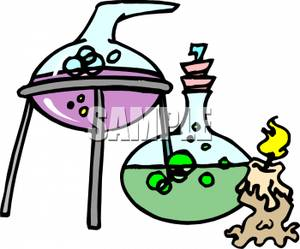 Chemicals clipart. Beakers of royalty free