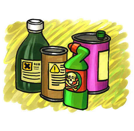 Household solvents can contribute. Chemical clipart chemical hazard