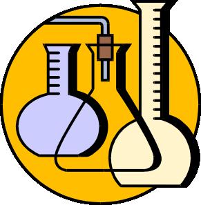 Lab clipart. Chemical flasks clip art