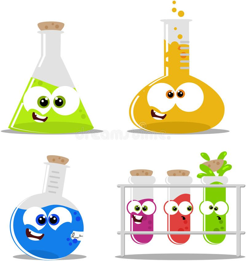 Science flasks and beakers. Chemical clipart chemistry beaker