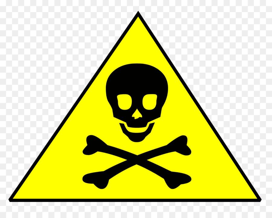 Skull and bones calavera. Chemical clipart chemical hazard