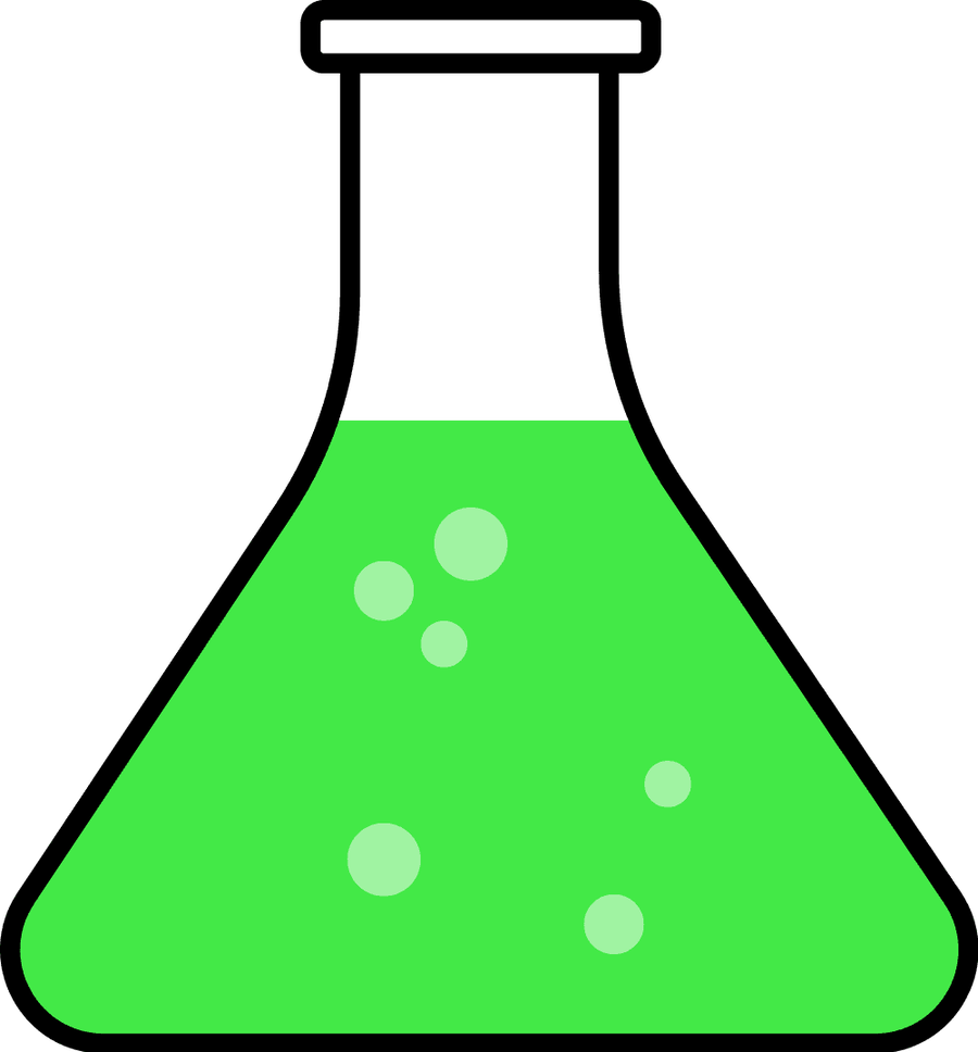 Green clipart beaker. Science flask clip art