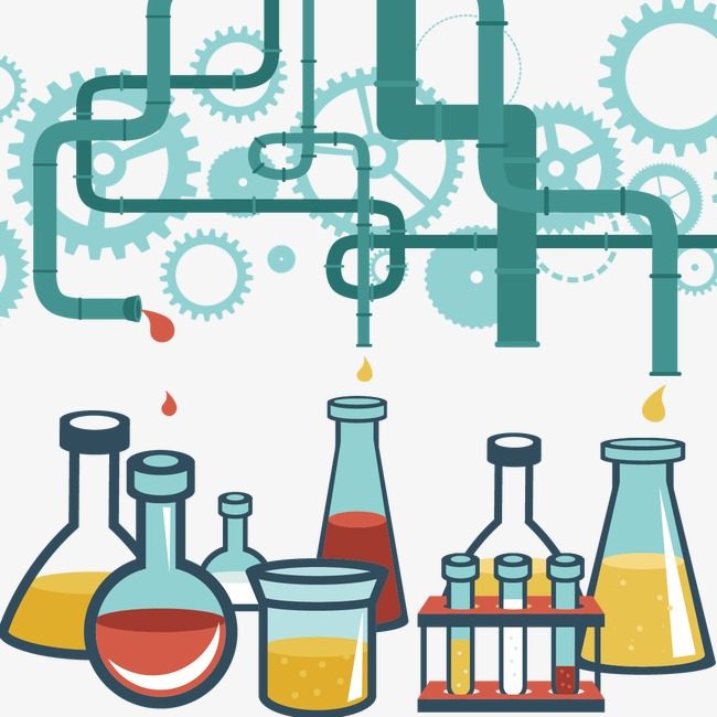 Chemical research material chemistry. Chemicals clipart lab supply