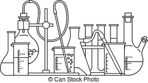 Chemistry clipart black and white. Station