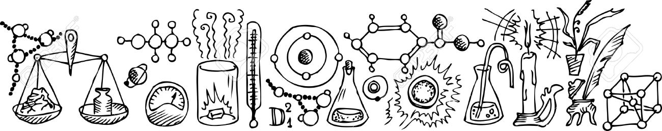 chemistry clipart black and white