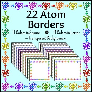 Science clip art atom. Chemistry clipart borders