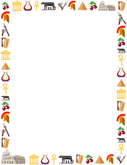 Free page and frames. Chemistry clipart borders