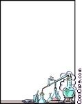 Chemistry clipart borders. Background vector clip art