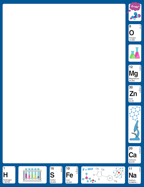 Border clip art featuring. Chemistry clipart borders