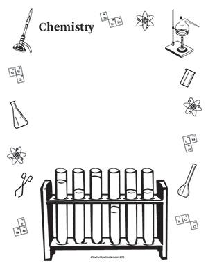 Portrait blank teacher chemistryportraitblank. Chemistry clipart borders