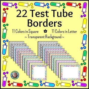 Science clip art test. Chemistry clipart borders