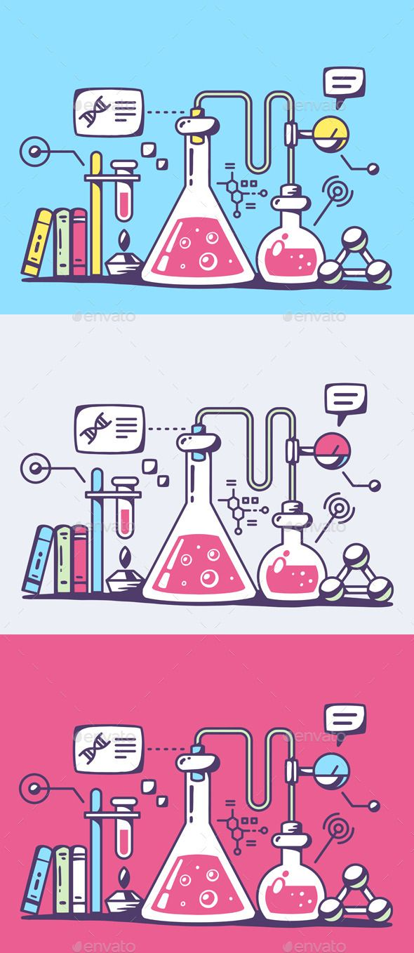 Experiment clipart chemical analysis. Laboratory flasks vector eps