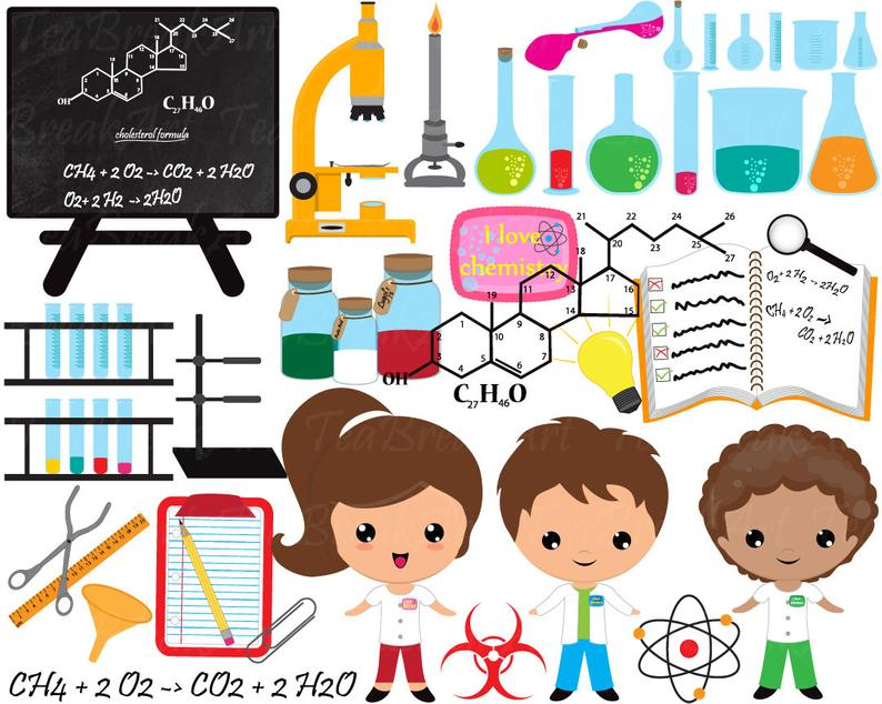 Digital graphics personal commercial. Chemistry clipart clip art