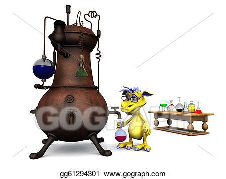 Clip art cartoon monster. Chemistry clipart cute