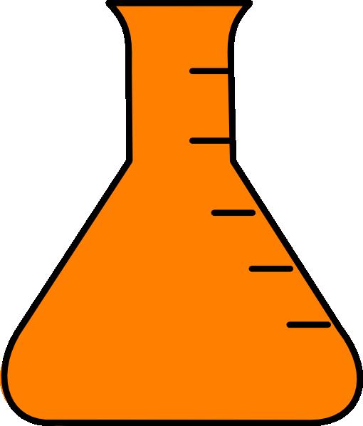 Chemistry clipart flask. Orange clip art at