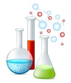School beakers empty full. Chemical clipart glass