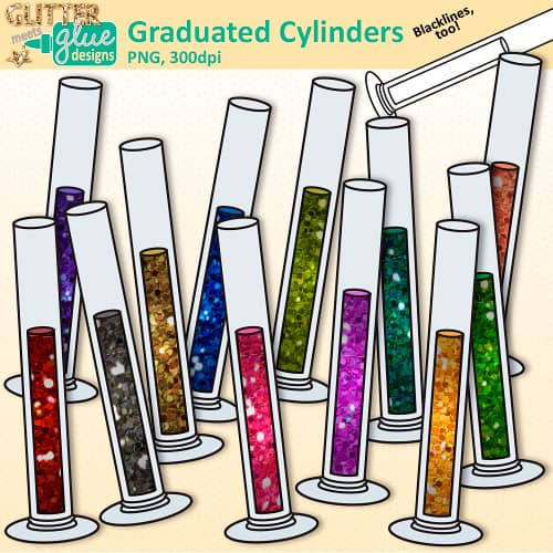 Teacher clip art glitter. Chemistry clipart graduated cylinder