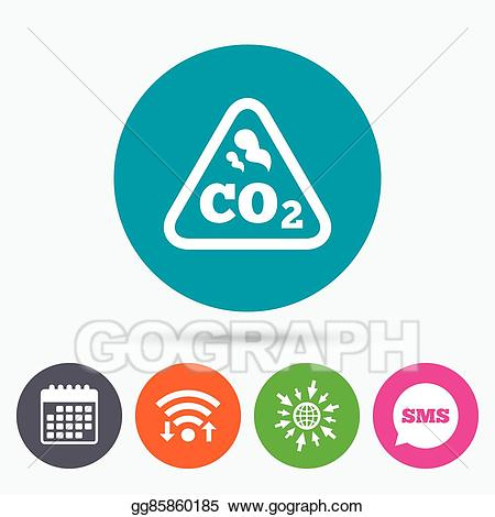 Chemistry clipart icon. Vector art co carbon