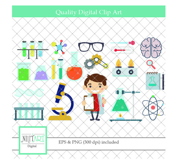Science vector graphics . Chemistry clipart item