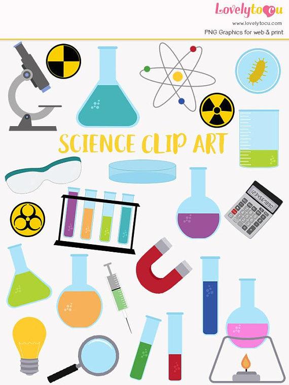 Science laboratory clip art. Chemistry clipart item