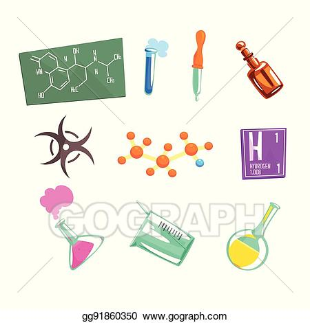 Chemistry clipart item. Eps vector chemist scientist