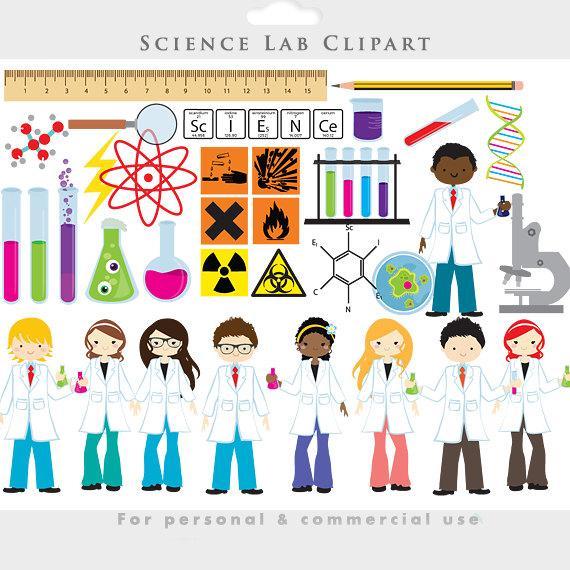 Science lab clip art. Chemistry clipart item
