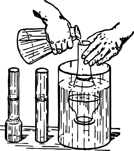 Experiment clip free vector. Chemistry clipart line art
