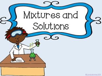 Mixtures and solutions powerpoint. Chemistry clipart mixture