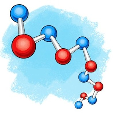 Sculpted science turn milk. Chemistry clipart polymer